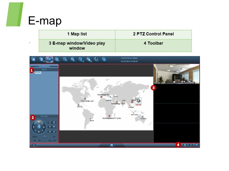 3 E-map window/Video play window