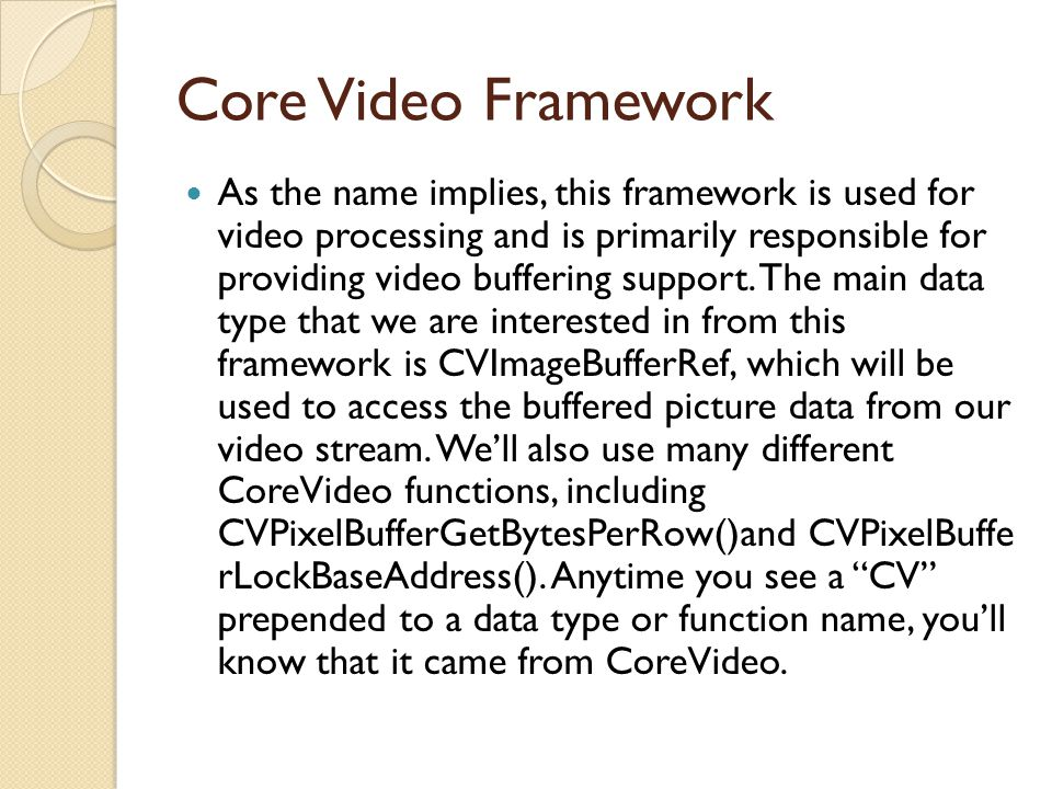 Core Video Framework