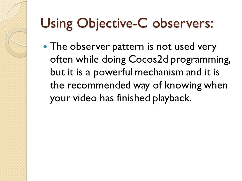 Using Objective-C observers: