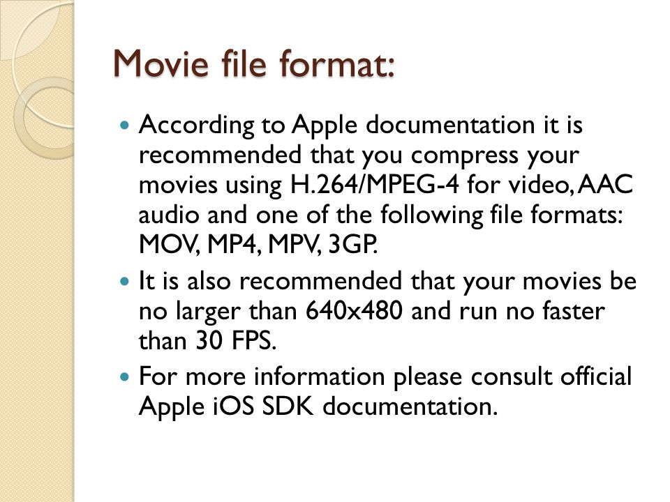 Movie file format:
