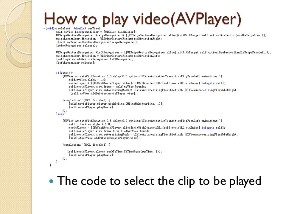 How to play video(AVPlayer)