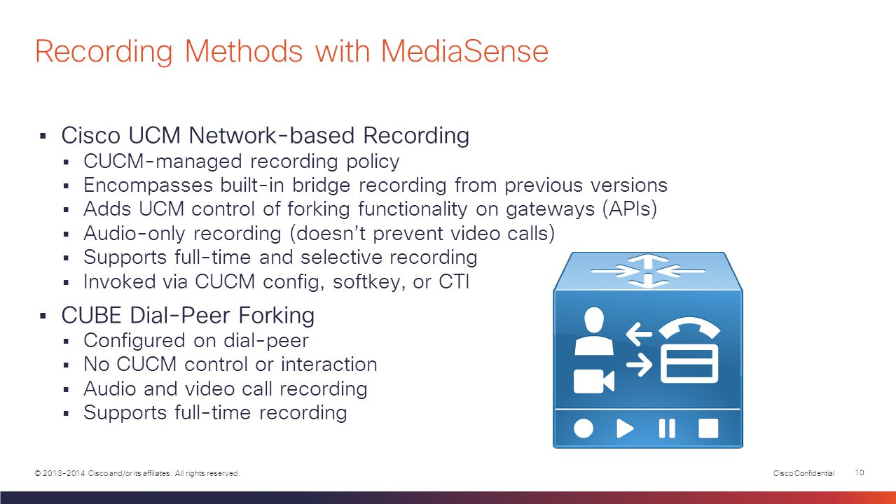 Recording Methods with MediaSense