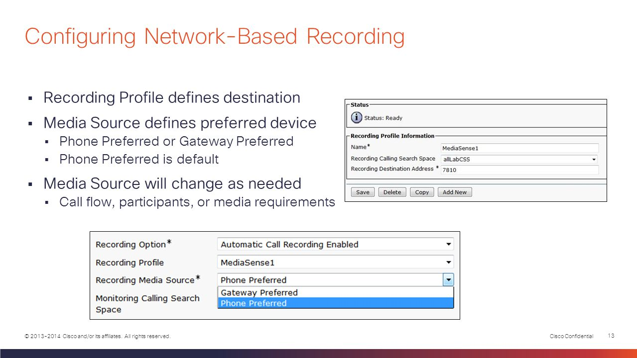 Configuring Network-Based Recording