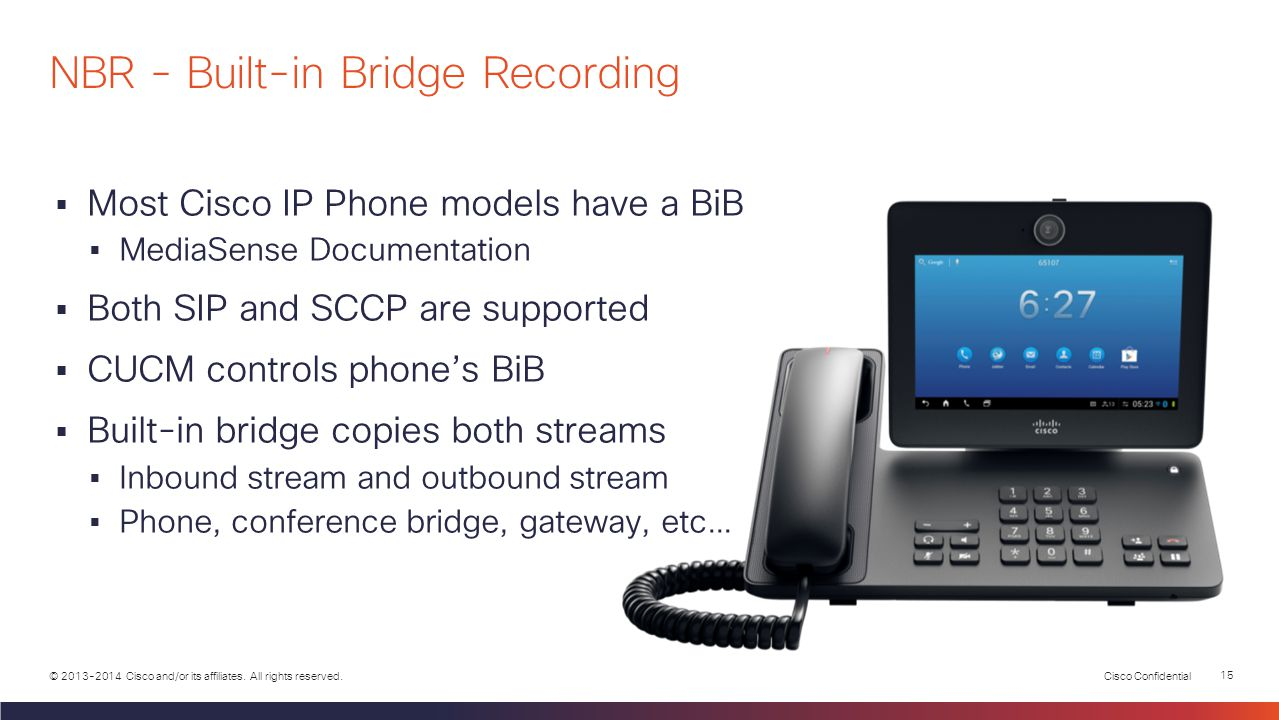 NBR - Built-in Bridge Recording