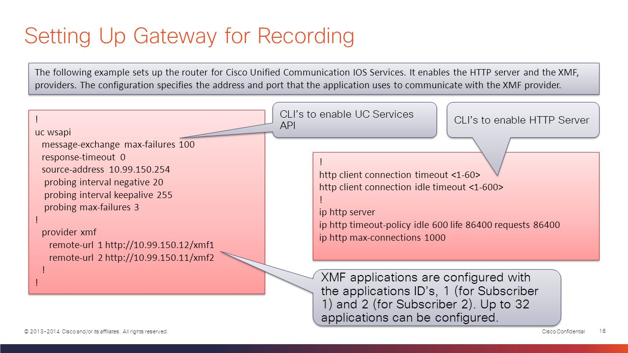 Setting Up Gateway for Recording