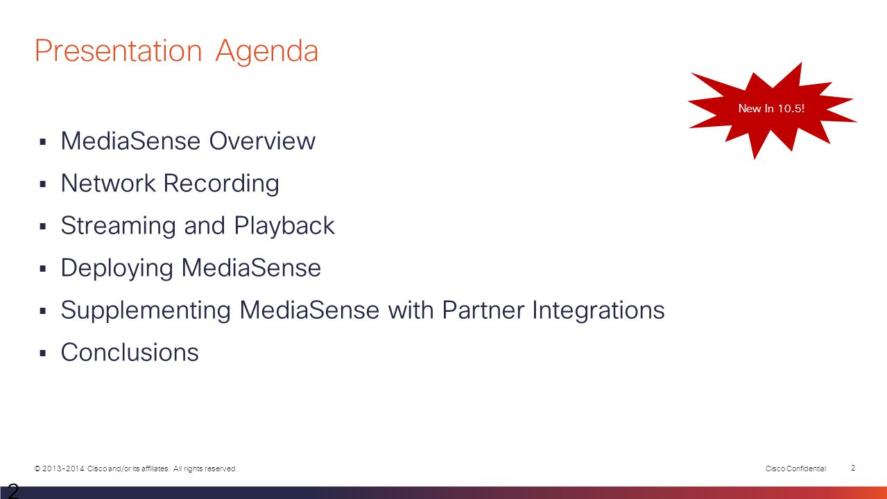 Presentation Agenda MediaSense Overview Network Recording