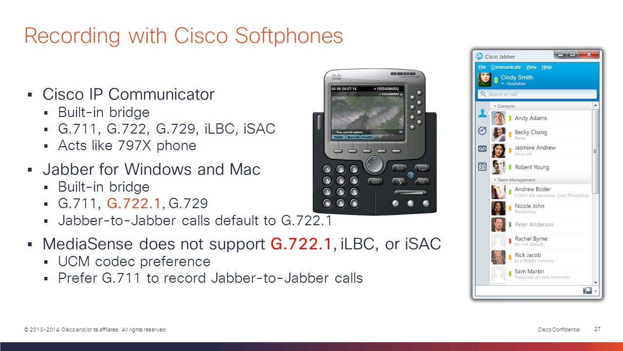 Recording with Cisco Softphones