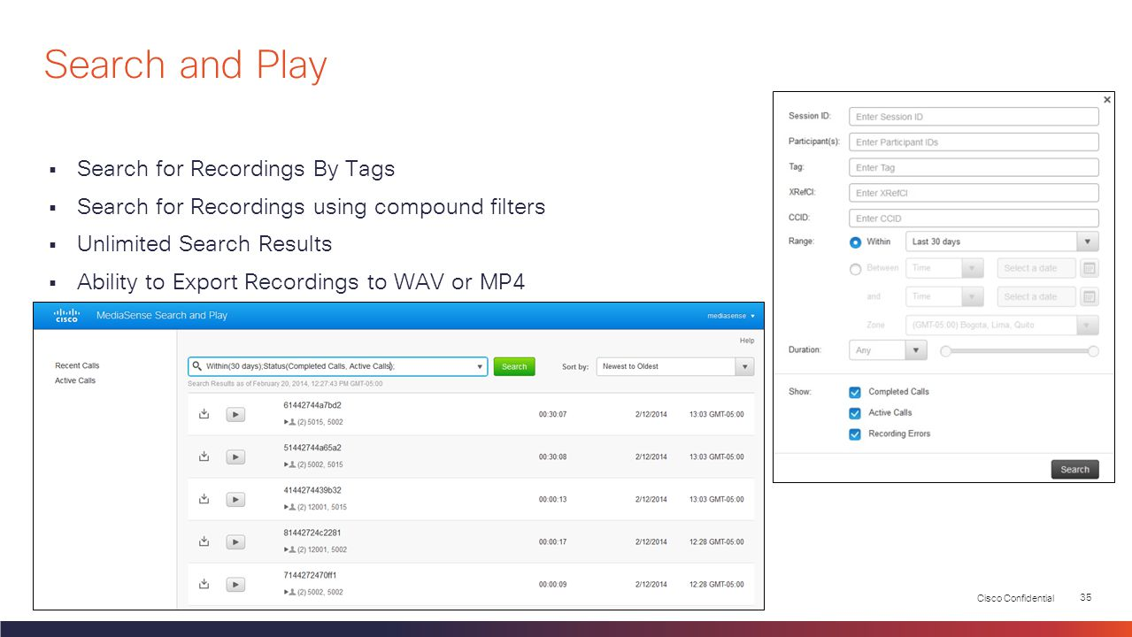 Search and Play Search for Recordings By Tags