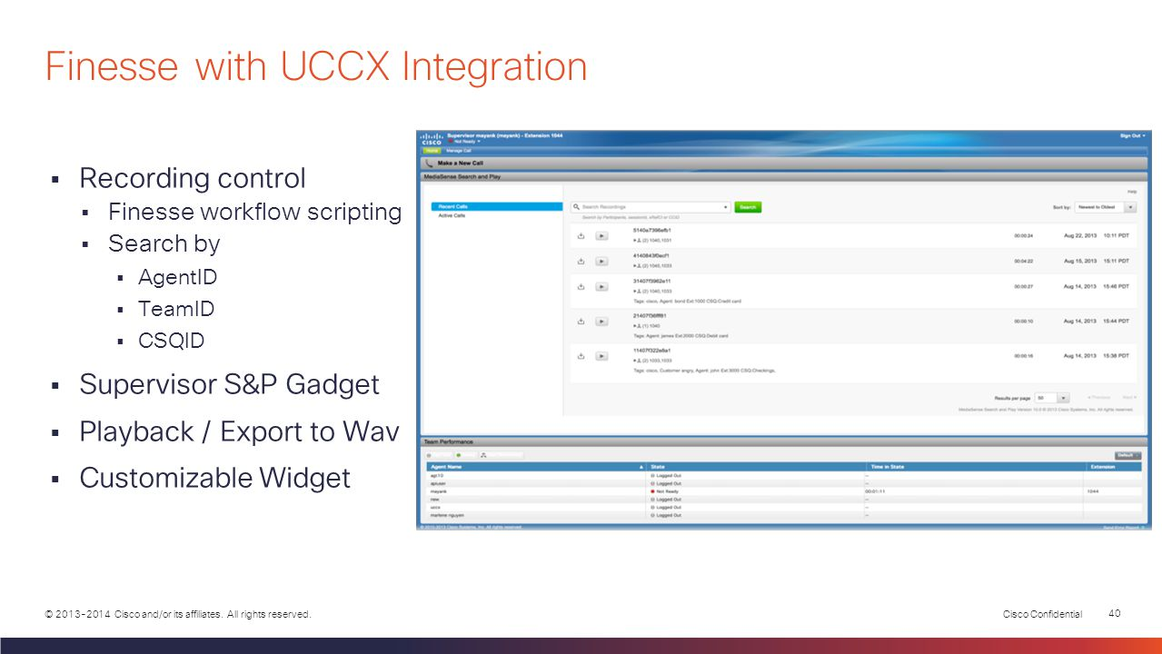 Finesse with UCCX Integration