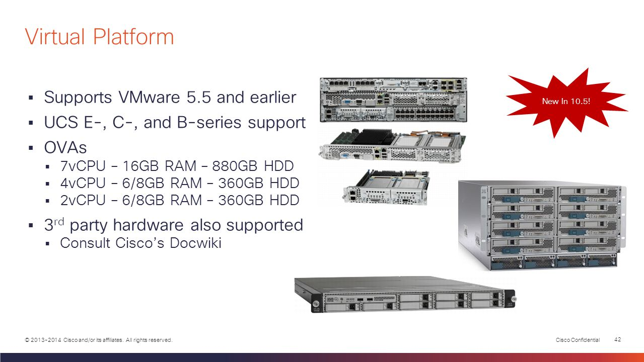 Virtual Platform Supports VMware 5.5 and earlier