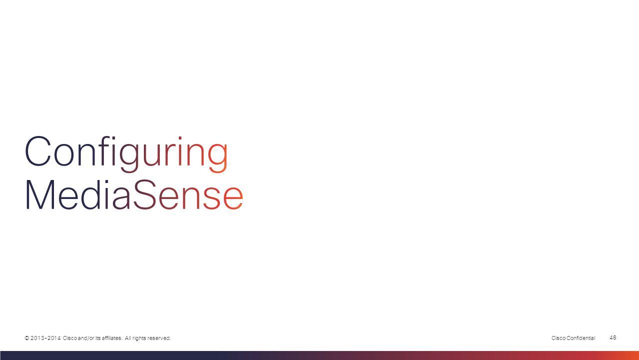 Configuring MediaSense