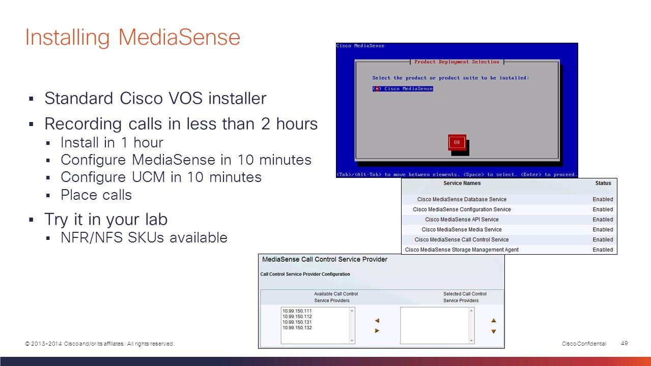 Installing MediaSense