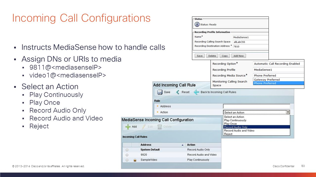 Incoming Call Configurations