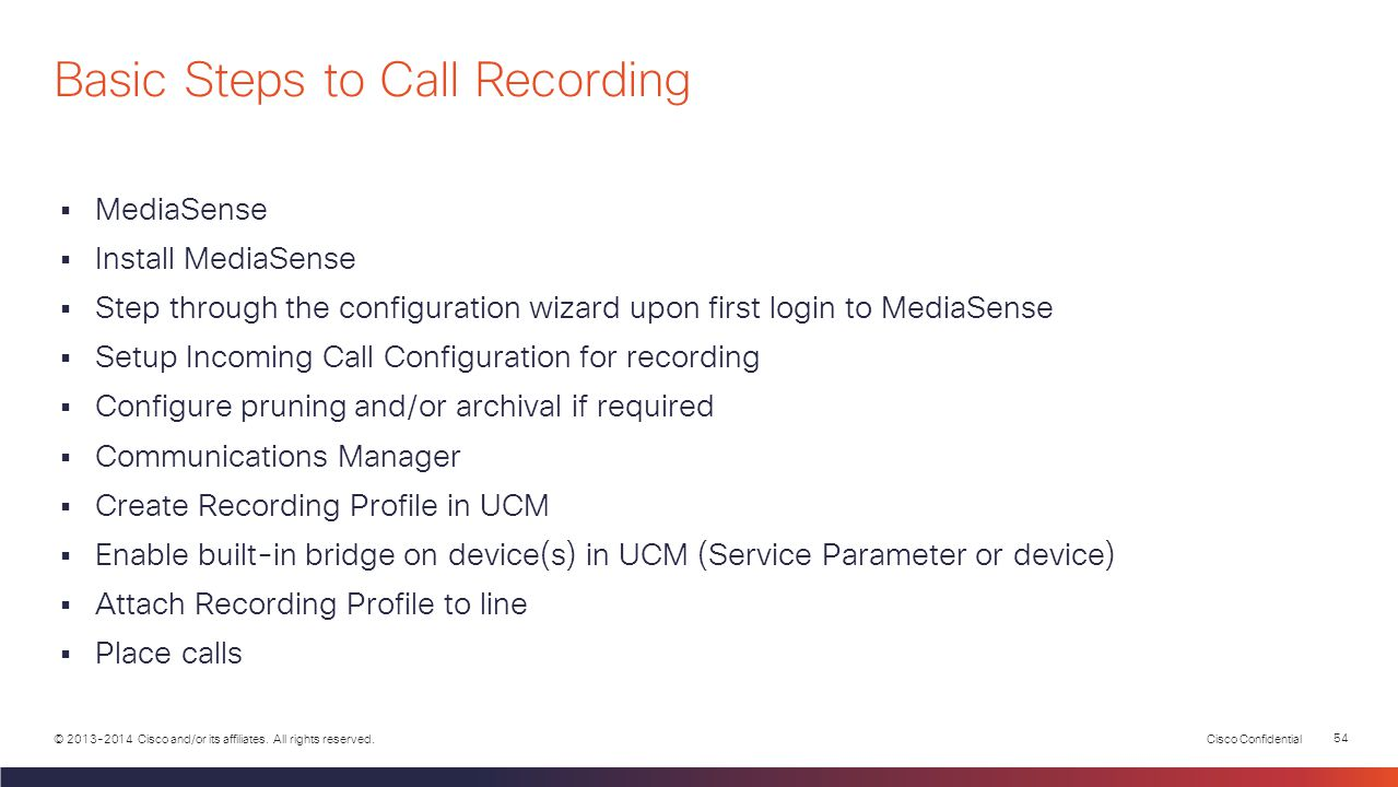 Basic Steps to Call Recording