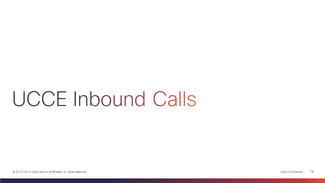 UCCE Inbound Calls