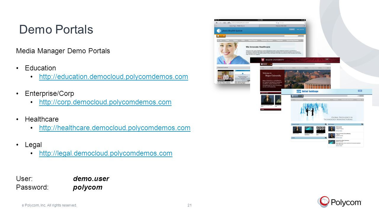Demo Portals Media Manager Demo Portals Education