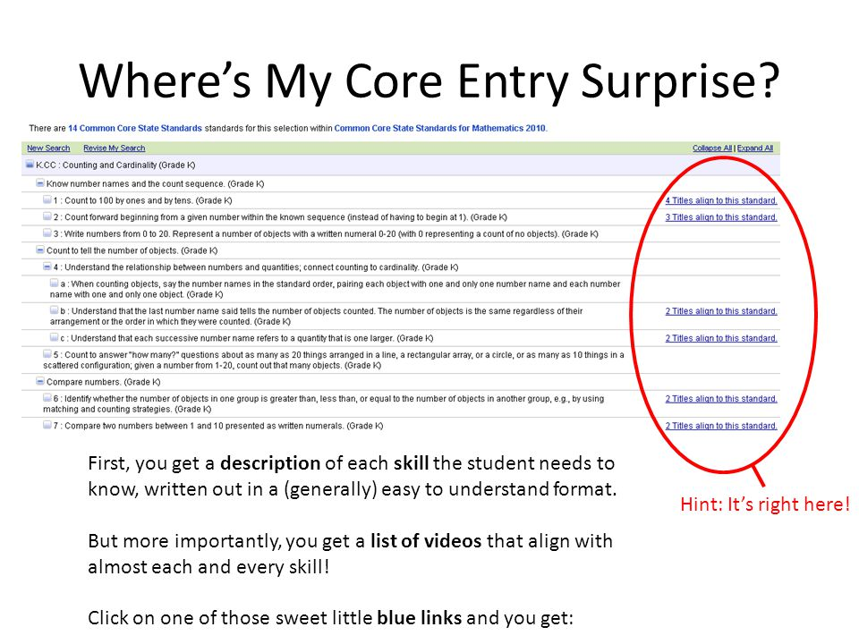 Where's My Core Entry Surprise