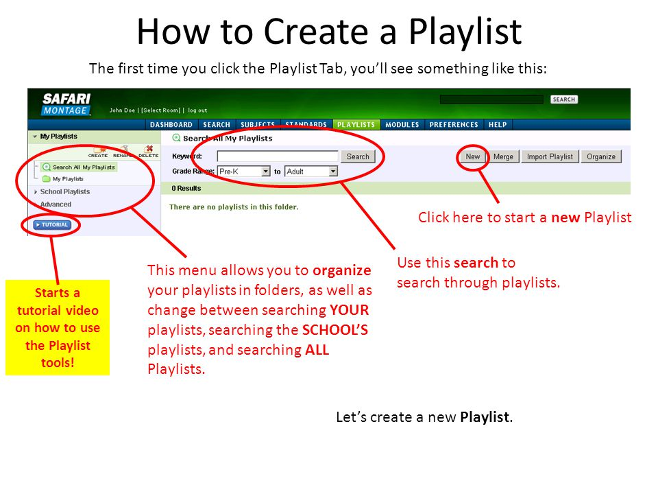 How to Create a Playlist