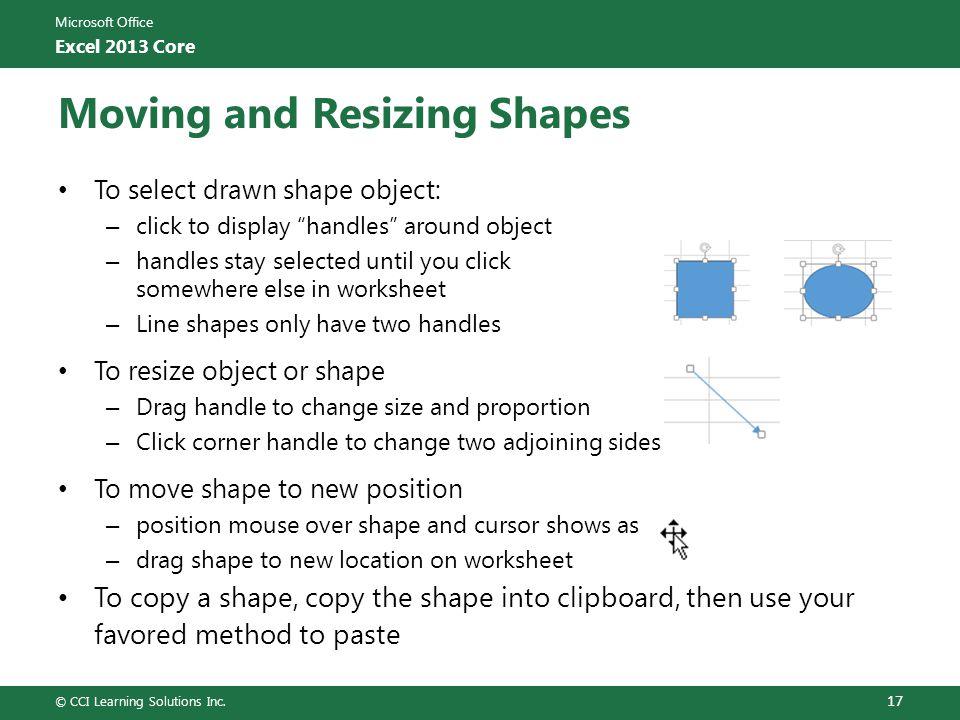 Moving and Resizing Shapes