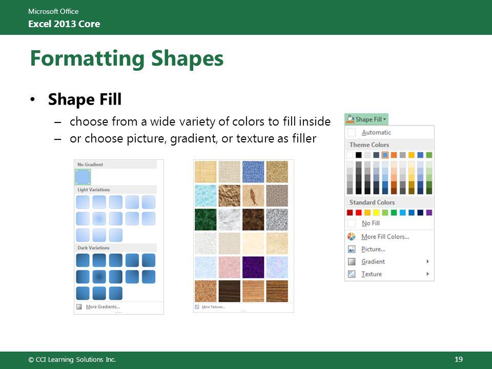 Formatting Shapes Shape Fill