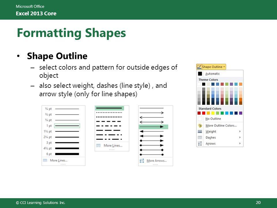 Formatting Shapes Shape Outline