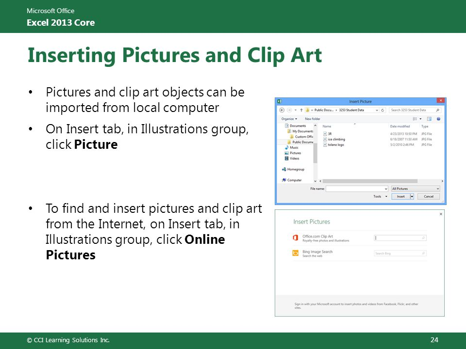 Inserting Pictures and Clip Art