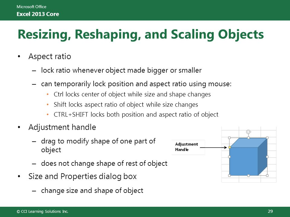 Resizing, Reshaping, and Scaling Objects