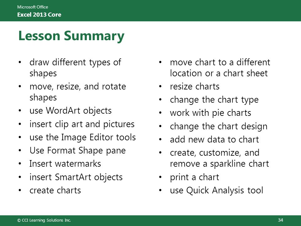 Lesson Summary draw different types of shapes