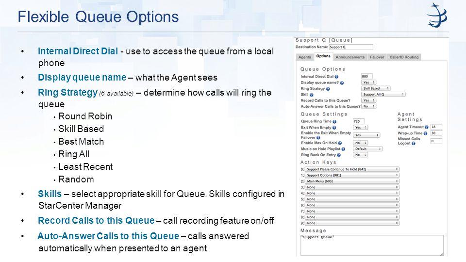 Flexible Queue Options