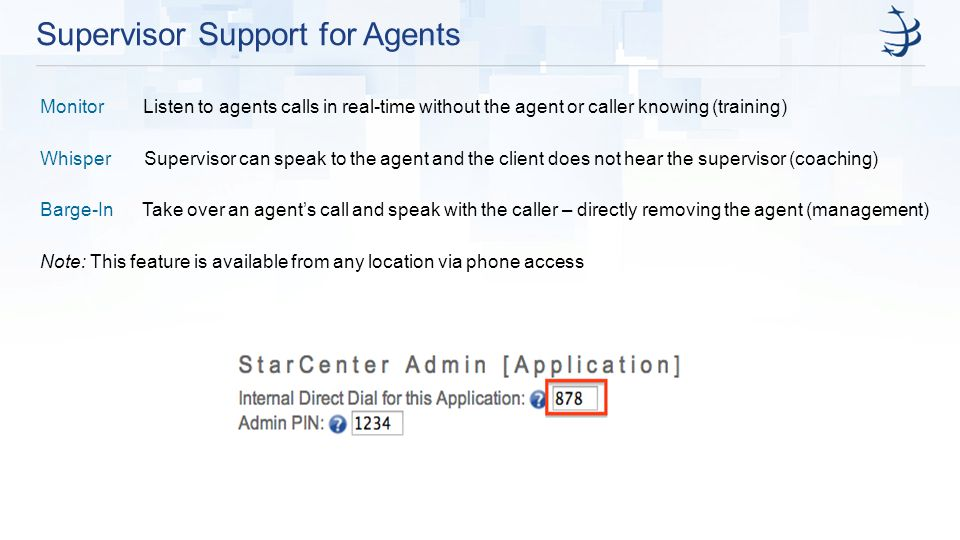 Supervisor Support for Agents
