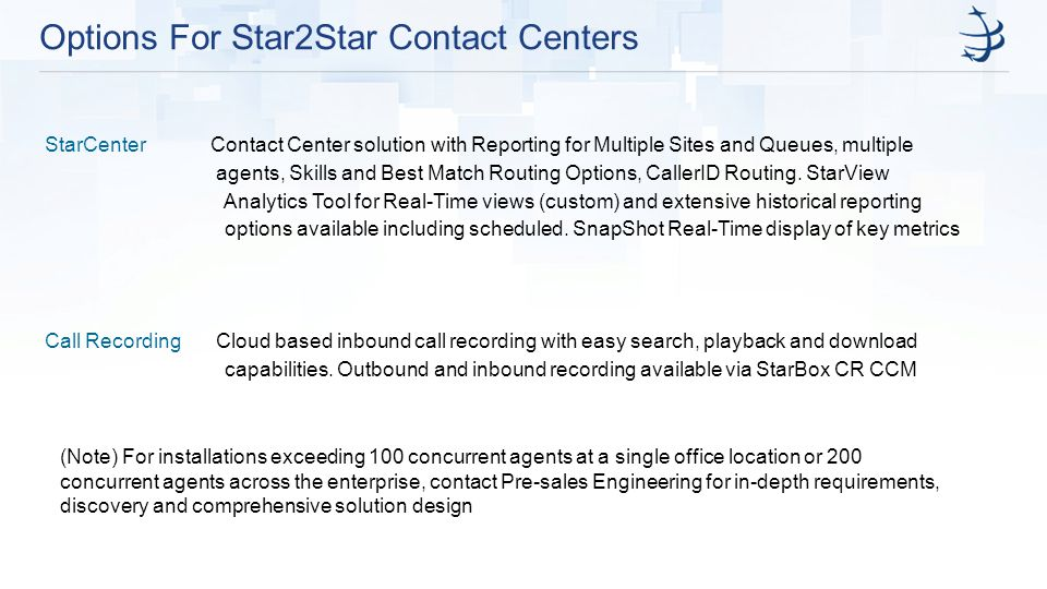 Options For Star2Star Contact Centers