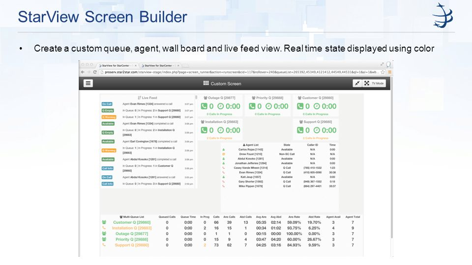 StarView Screen Builder