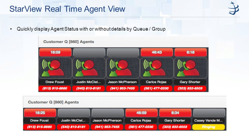 StarView Real Time Agent View