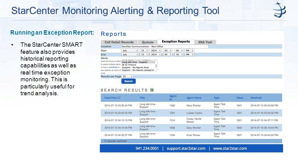 StarCenter Monitoring Alerting & Reporting Tool
