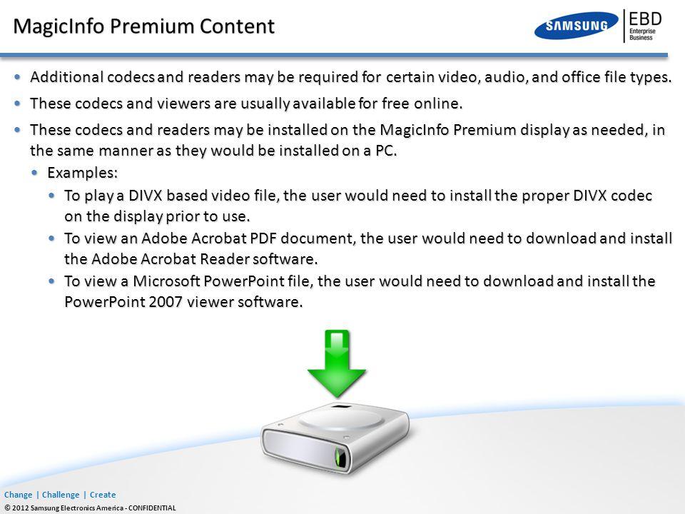 MagicInfo Premium Content