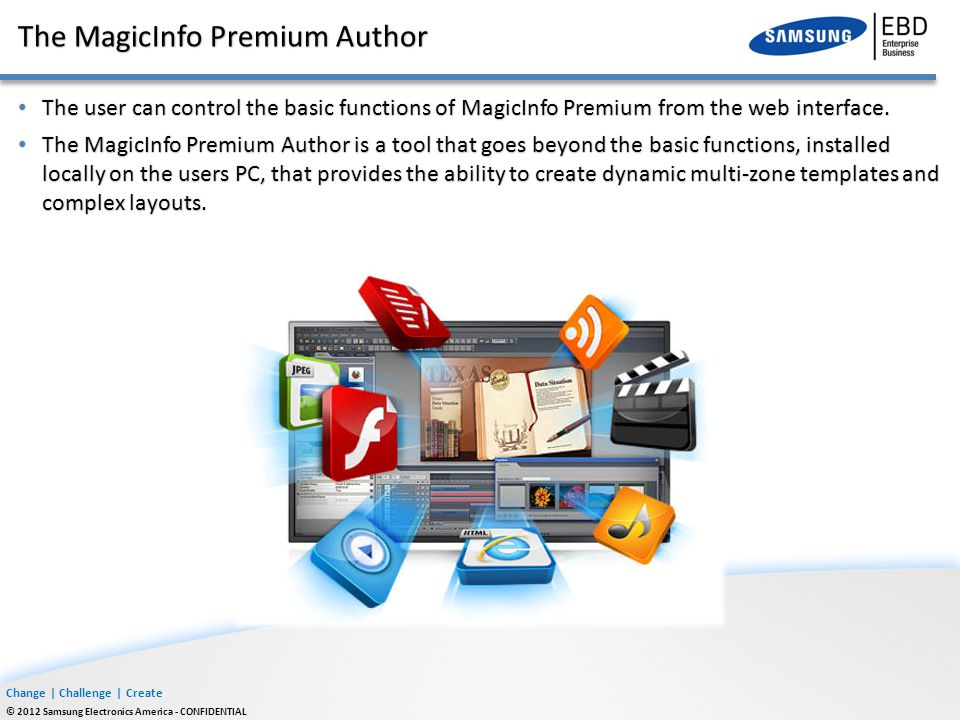 The MagicInfo Premium Author