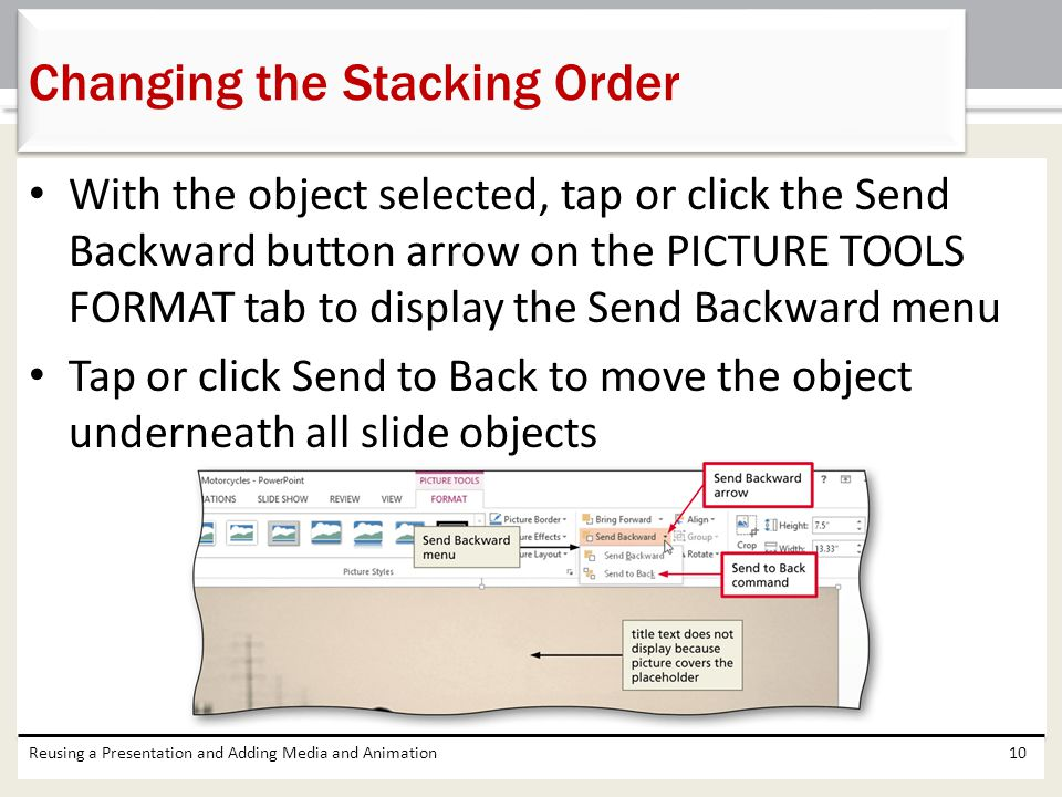 Changing the Stacking Order