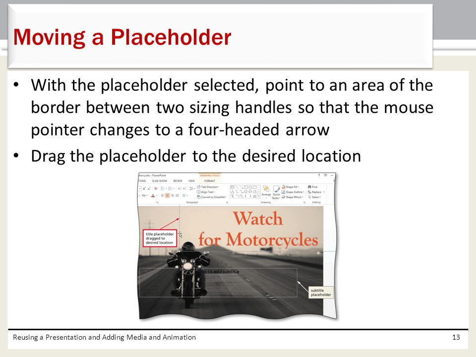Moving a Placeholder