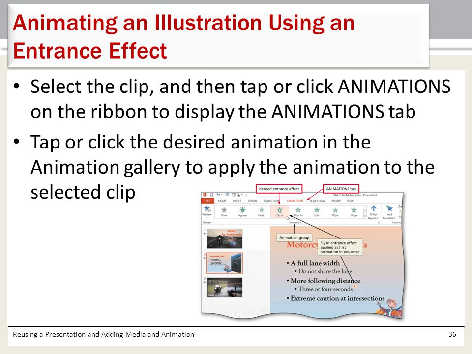 Animating an Illustration Using an Entrance Effect