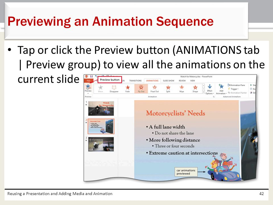 Previewing an Animation Sequence