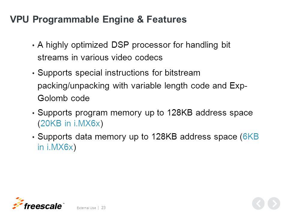 VPU Programmable Engine Capability & Example