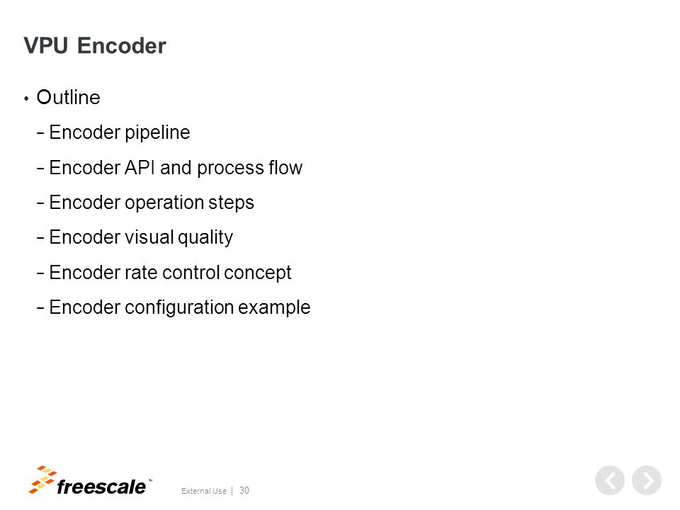 Video Process Flow (example pipeline of H264 encoder)