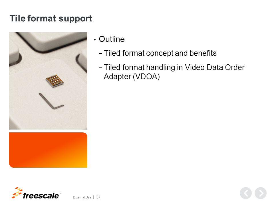 VPU tiled format support