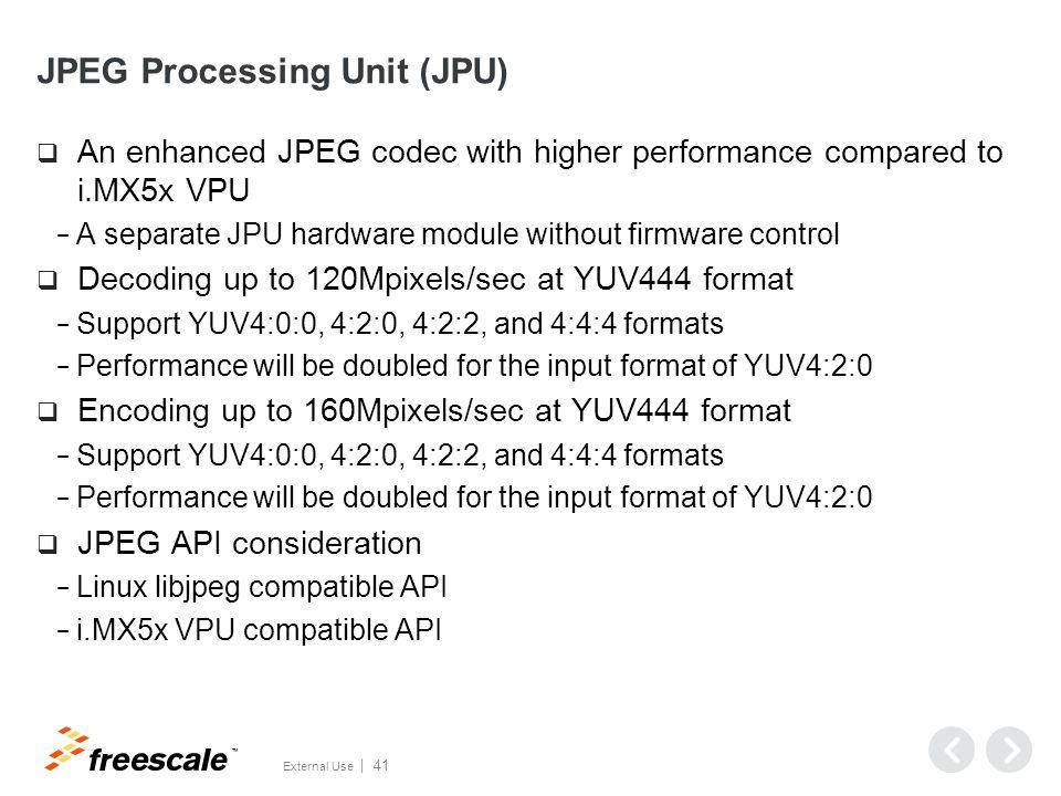 JPEG Processing Unit (JPU)—encoder example