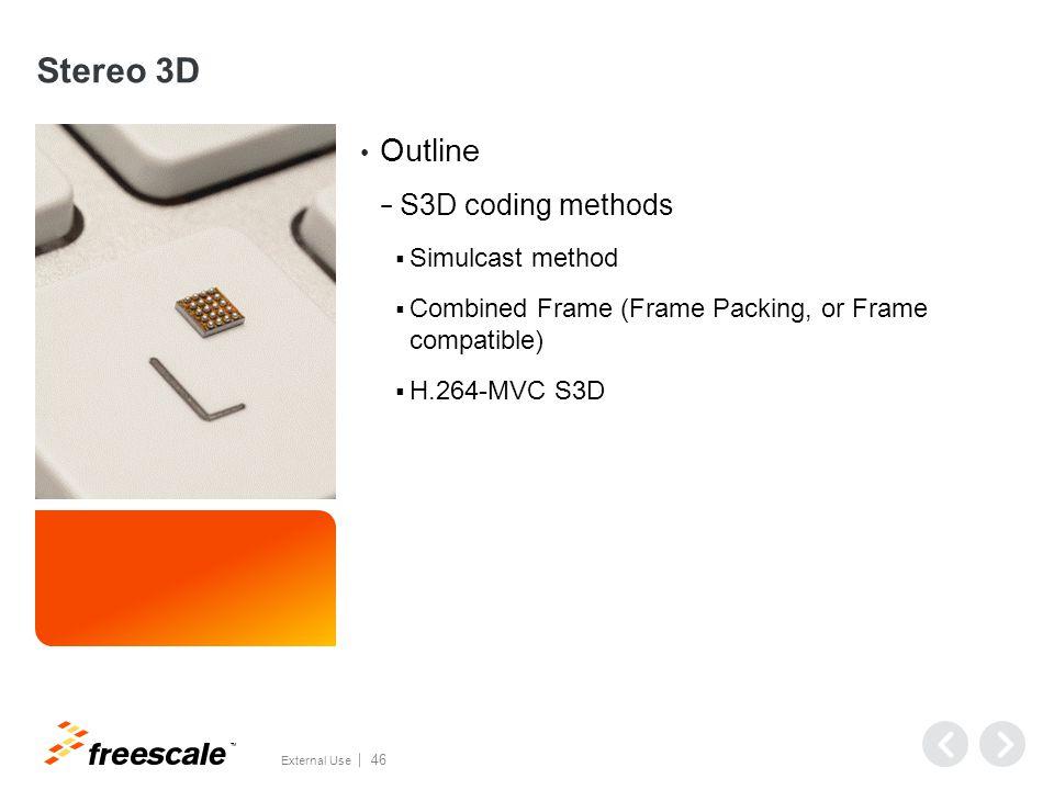 Stereo 3D Coding Methods