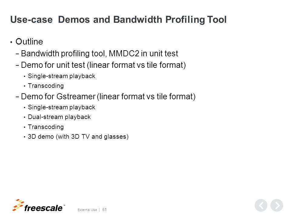 Bandwidth Profiling Tool MMDC2