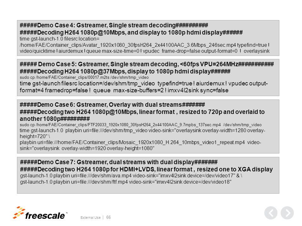 #####Demo Case 8, Gstreamer,Transcoding###################