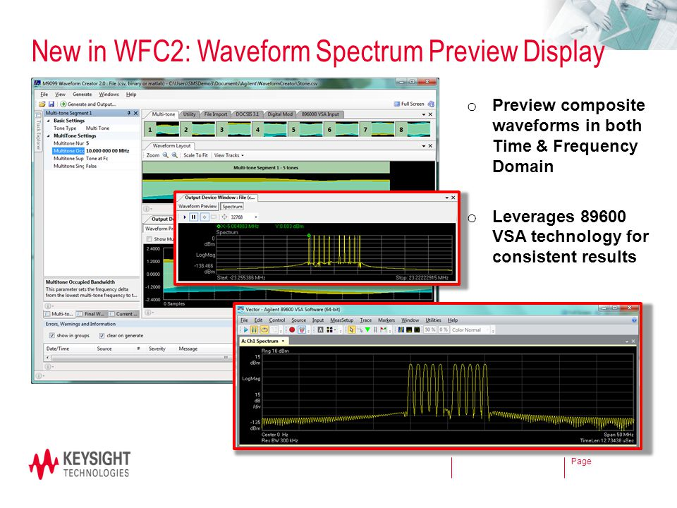 New in WFC2: Waveform Spectrum Preview Display