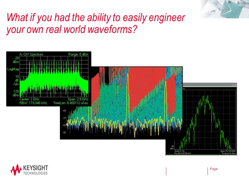 What if you had the ability to easily engineer your own real world waveforms