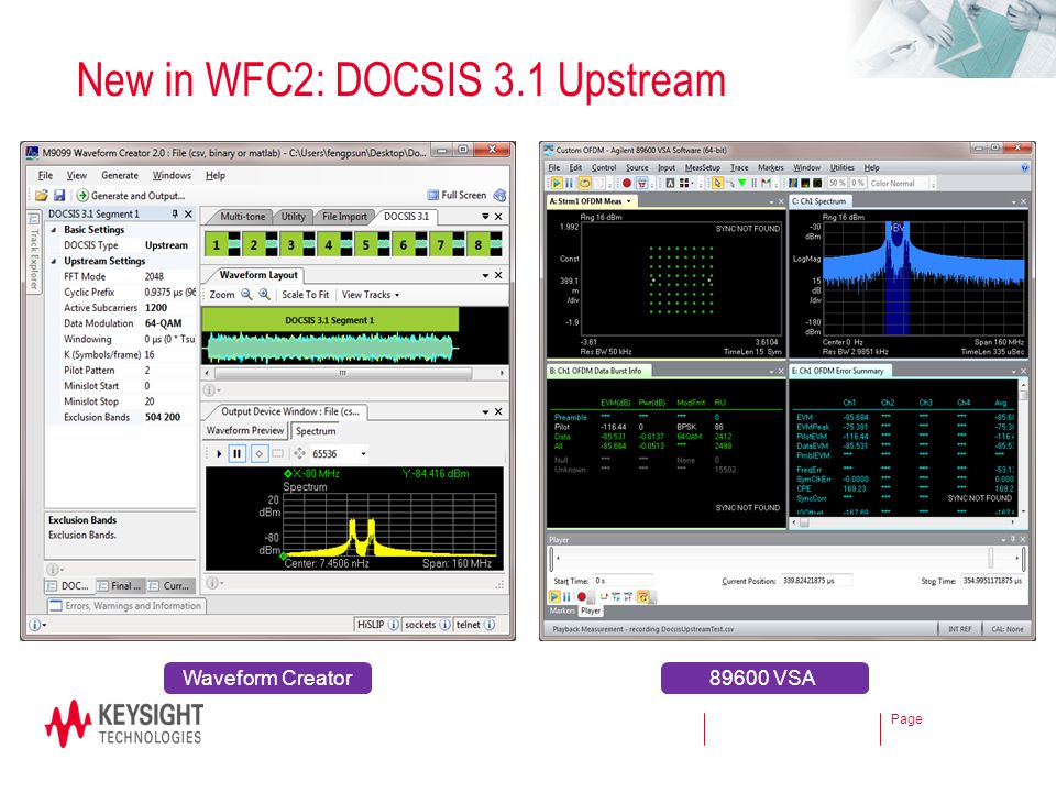 New in WFC2: DOCSIS 3.1 Upstream